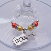 Acoustic Guitar Wine Glass Charm - Elegance Style